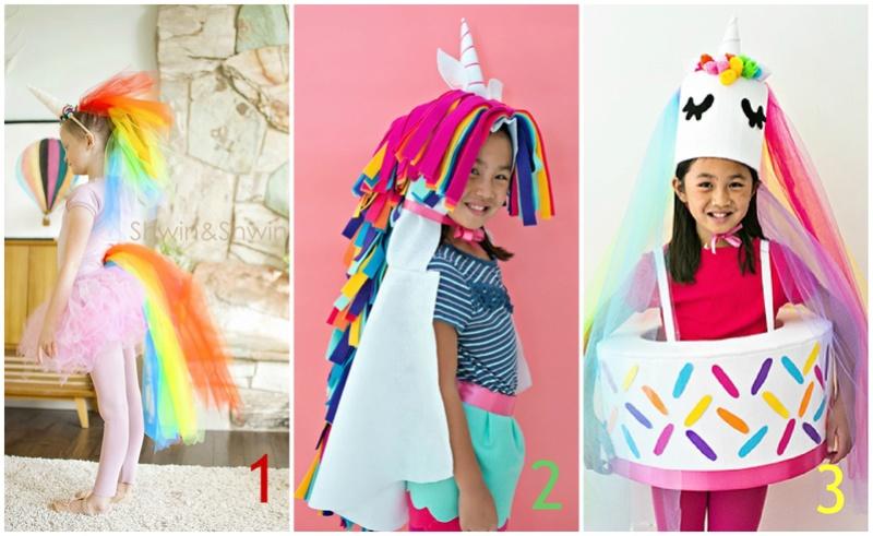 Carnevale: costumi da unicorno fai da te senza cucire Collag10