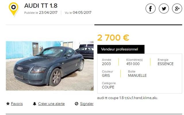 Achat TT MK1 3.2 V6 Boîte manuelle Tt45112