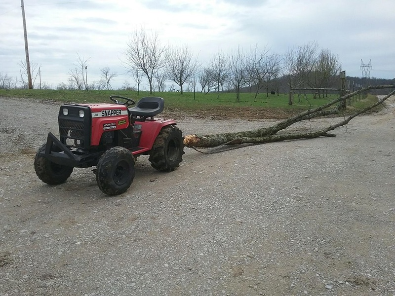 Other uses for your off-road tractor.. and the damage it took. 28467911