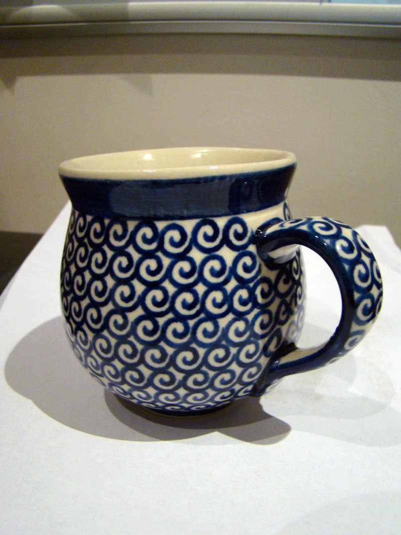 Porcelain cup - Boleslawiec Pottery, Poland  Dsc00810