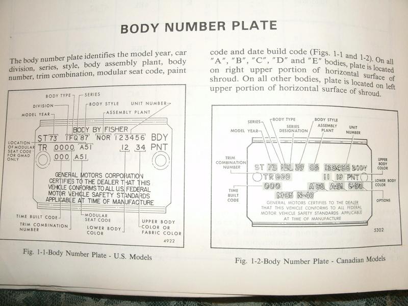 '76 Laguna S3 COWL Tag Info Trim_t10