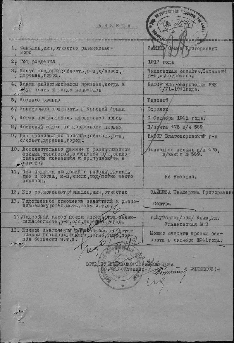 УРОЖЕНЦЫ ОРЕНБУРГСКОЙ (ЧКАЛОВСКОЙ) ОБЛ. ПОГИБШИЕ В ФИНСКОМ ПЛЕНУ 610