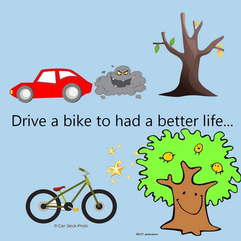 Drive a bike to had a better life Anglai23