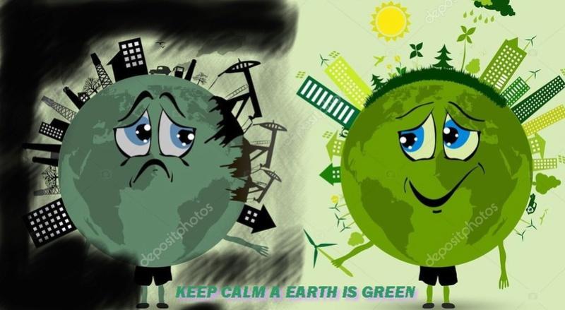 keep calm a earth is green Tache_13