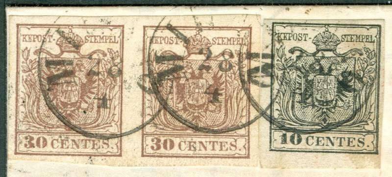 Briefmarken - Lombardei - Venetien 1850 - 1858 - Seite 5 1858_m10