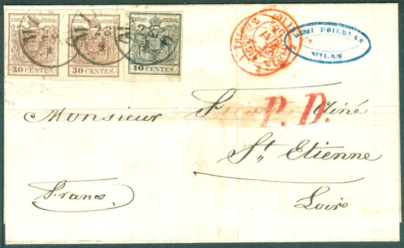 Briefmarken - Lombardei - Venetien 1850 - 1858 - Seite 5 1858_m12