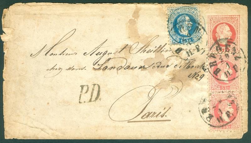 Freimarken-Ausgabe 1867 : Kopfbildnis Kaiser Franz Joseph I - Seite 18 1867_g10