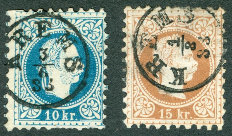 Freimarken-Ausgabe 1867 : Kopfbildnis Kaiser Franz Joseph I - Seite 19 Krems10