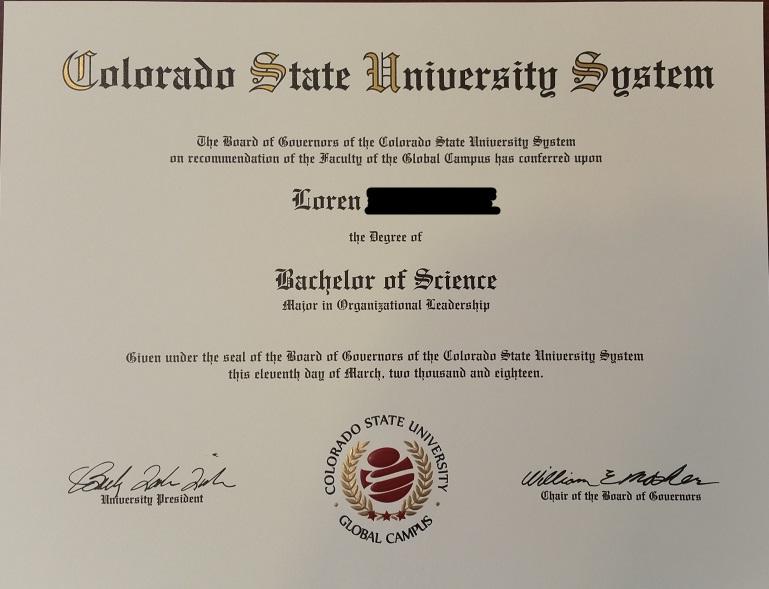 College Grad at 46 Diplom10