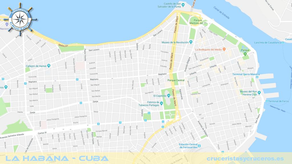 habana - PLANO: La Habana - Cuba La-hab10