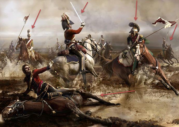 Mort du Major-Général Ponsonby, waterloo 18  juin 1815, 1/72 Little10