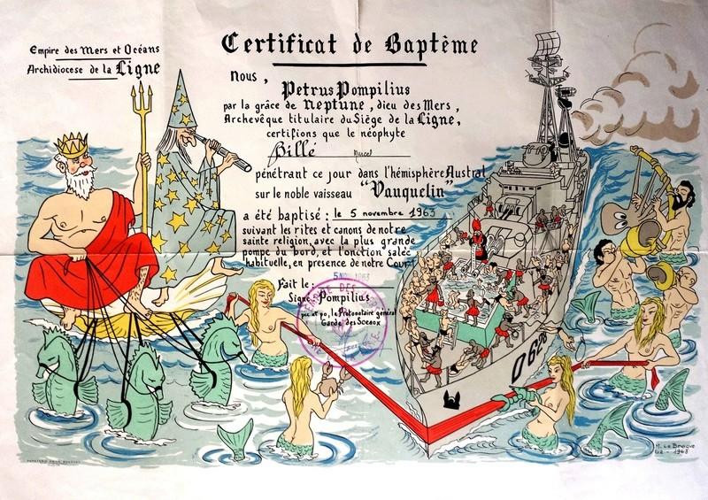 [ Les traditions dans la Marine ] Les diplômes de la Ligne - Page 4 1963_110