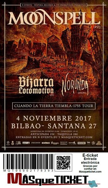 Moonspell - Bilbao (Santana 27), le 4.11.2017 Billet10