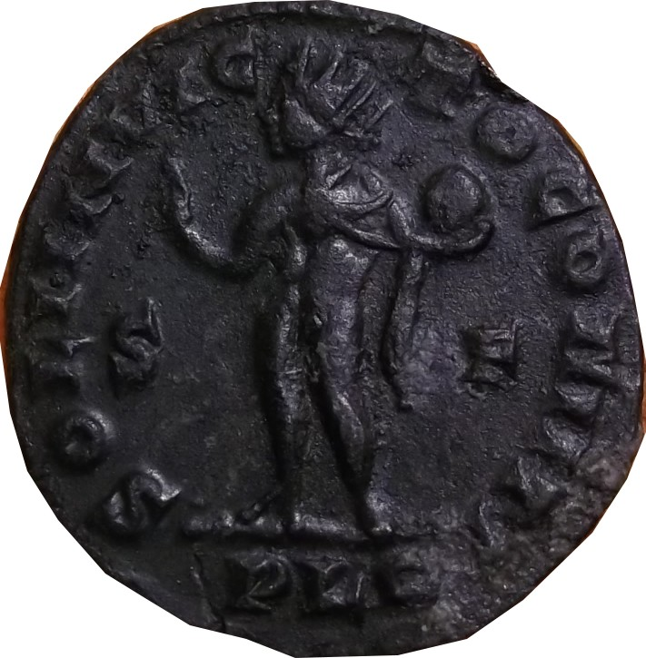 Constantin I soli invic-to comiti S F dans le champ Lyon ric 5 S_f_210