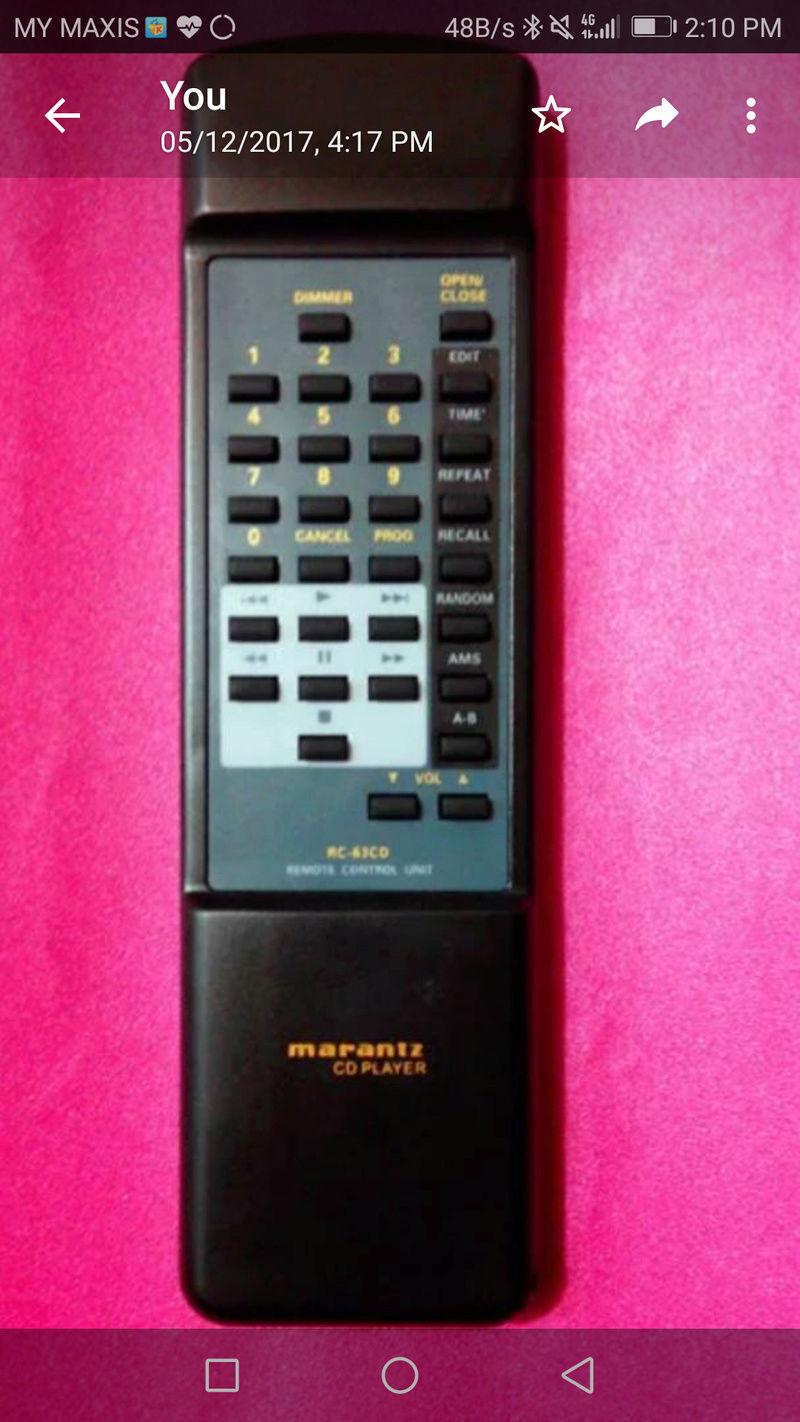 Marantz Remote Control : RC5300SR & CD63 & CD94 remote Screen10