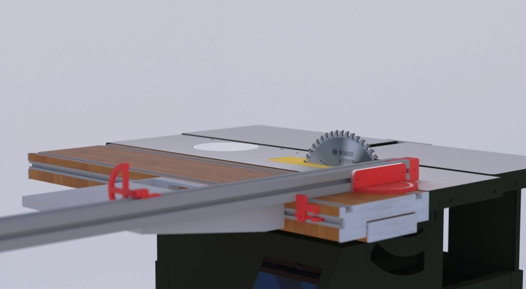 "Une console en chêne ""moderne"" Rendu_14"