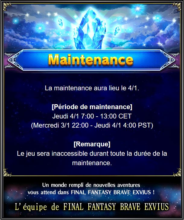 Maintenance 04/01 de 7H à 13H Captur24