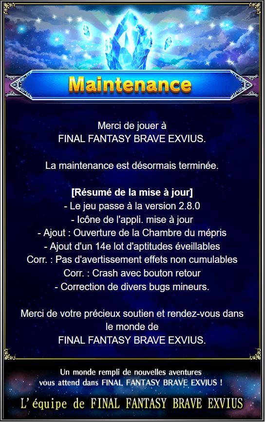 Maintenance 03/05 de 8H à 16H   Captur64