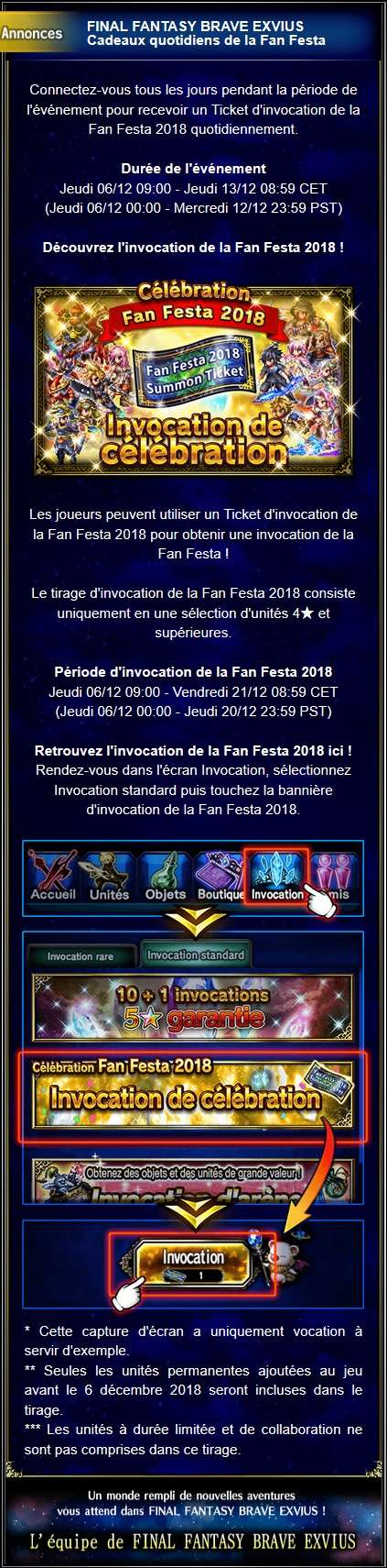 Invocations spéciales - Fan Festa - du 06/12 au 13/12/18 Captur72