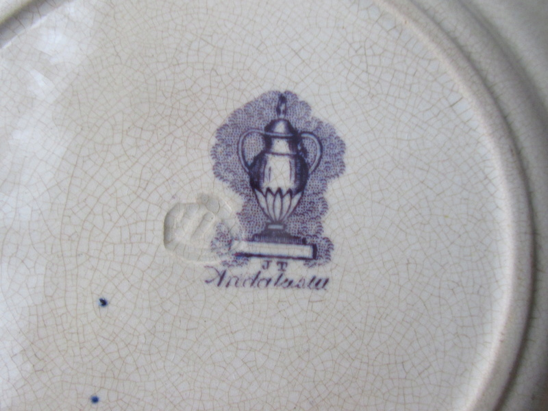 J.T. ANDALUSIA. Made by Annfield Pottery i CAN NOT FIND THE PLATE LIKE THIS Img_0022
