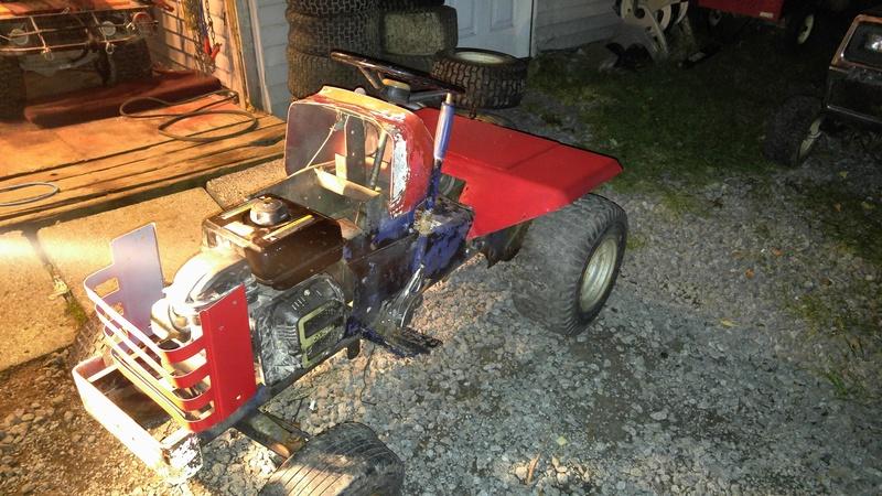 Massey MF7 trail tractor 20171023