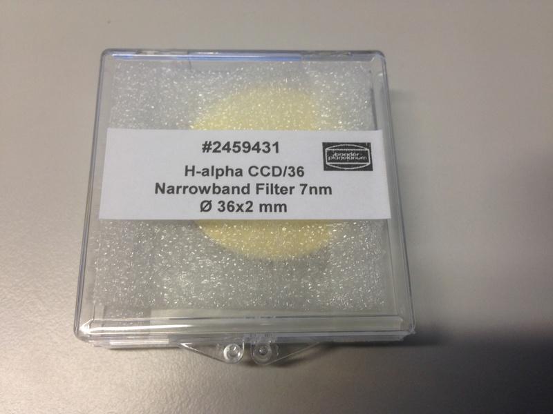 Filtre HA7nm Baader 36mm, Monté 1x et ressorti de la RAF pour cette vente.  Img_5212