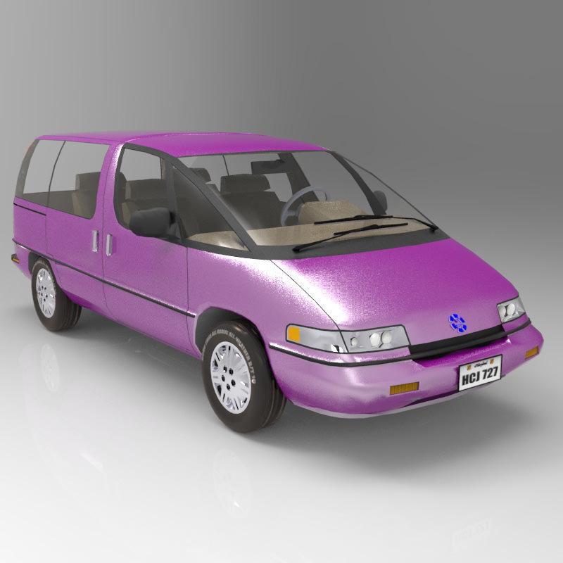 Pontiac Trans Sport en réalisation 3D Family10