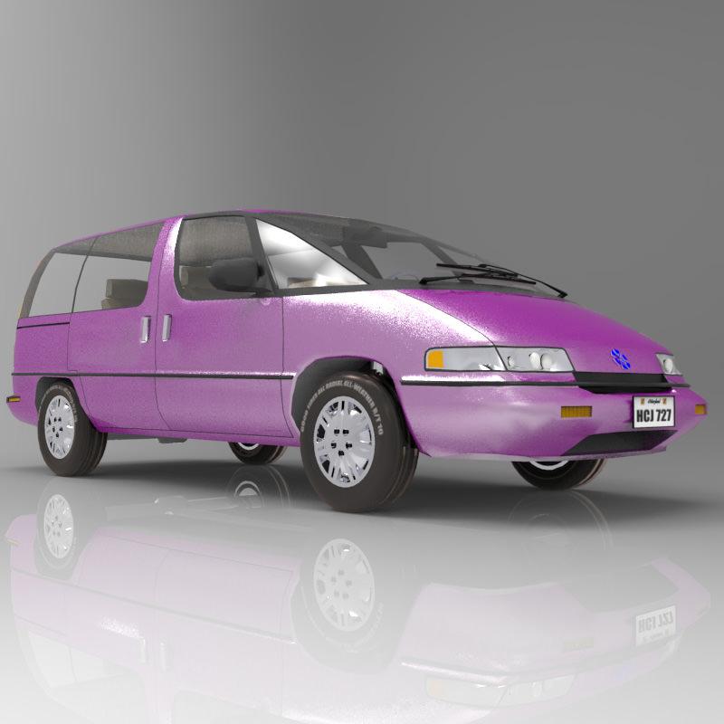 Pontiac Trans Sport en réalisation 3D Family11
