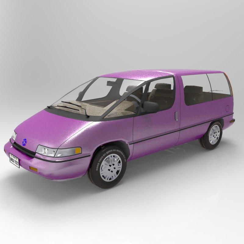 Pontiac Trans Sport en réalisation 3D Family12