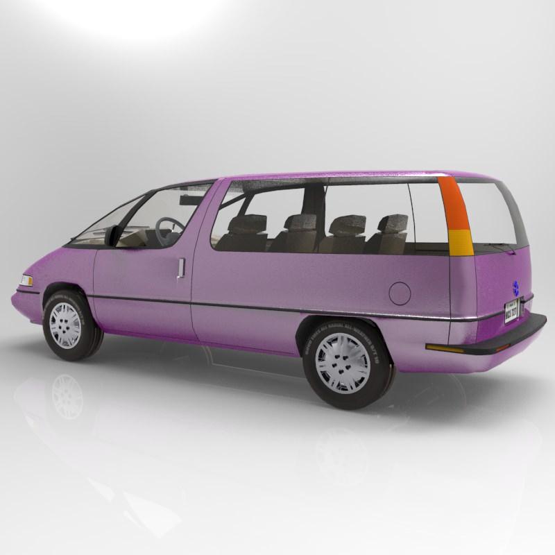 Pontiac Trans Sport en réalisation 3D Family13