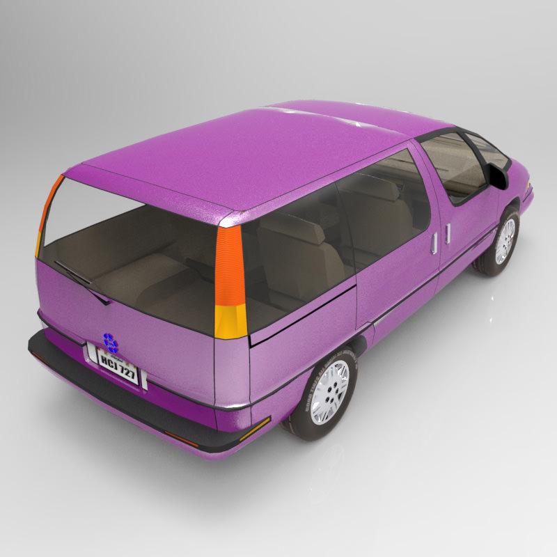 Pontiac Trans Sport en réalisation 3D Family14