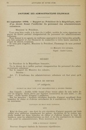 renseignements sur uniforme administrateur des colonies - Page 2 Ryglem10