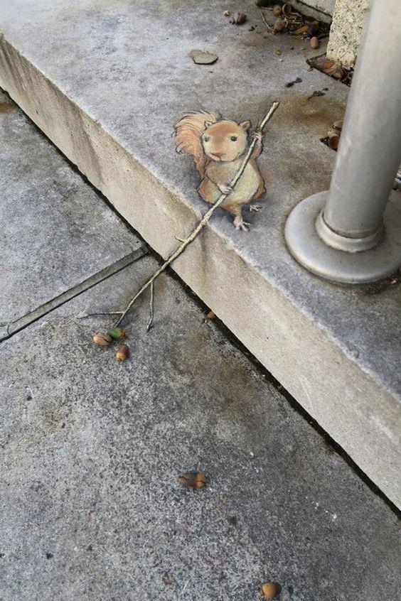 David Zinn - Street Art poétique 5e629e10