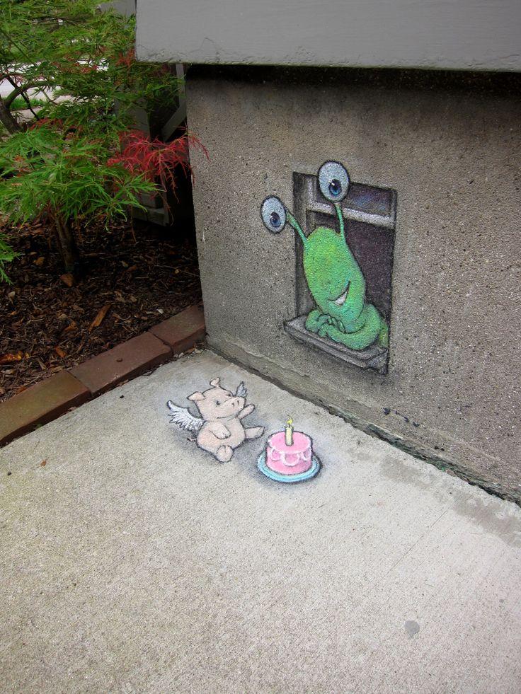 David Zinn - Street Art poétique Anniv_11