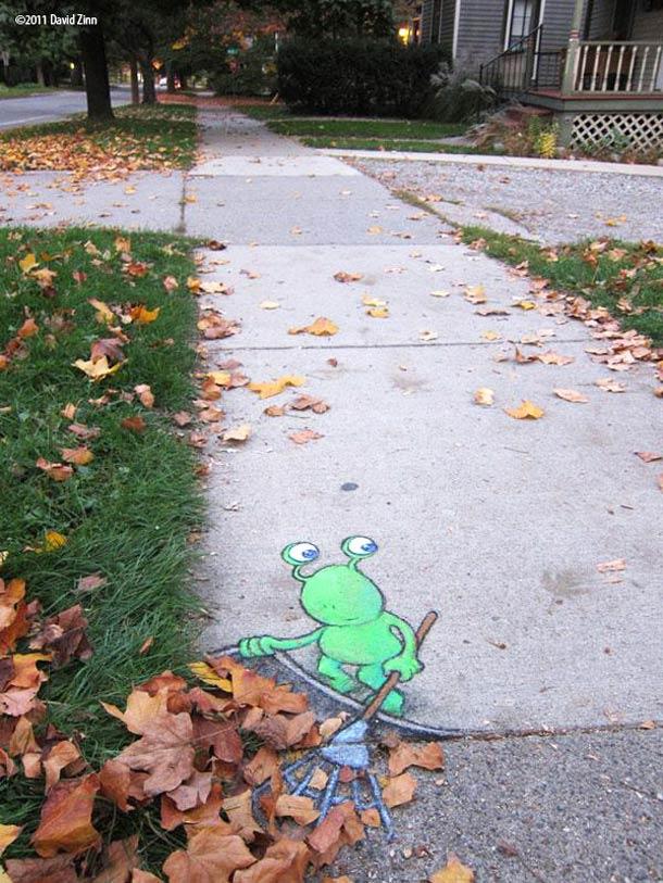 David Zinn - Street Art poétique Chalk-10