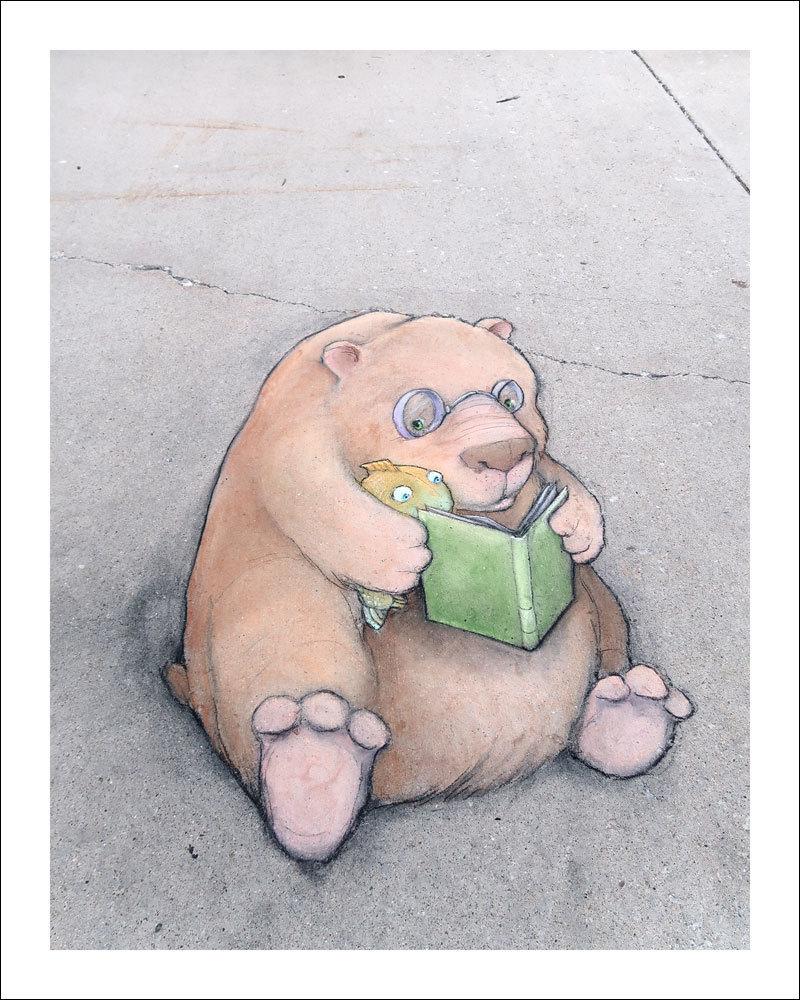 David Zinn - Street Art poétique Lectur10