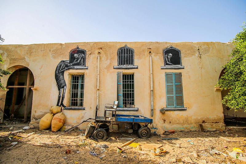 Street Art à Djerba Phlegm10