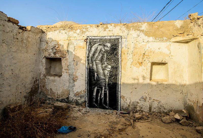 Street Art à Djerba Phlegm11