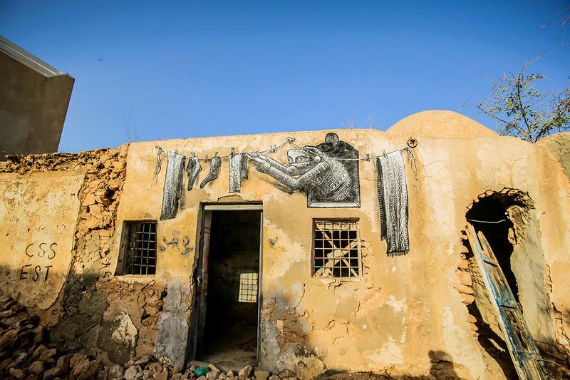 Street Art à Djerba Phlegm12