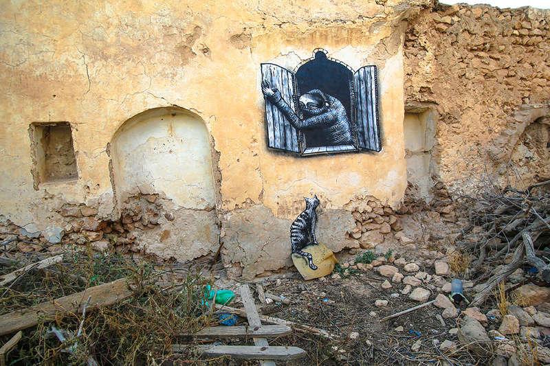 Street Art à Djerba Phlegm13