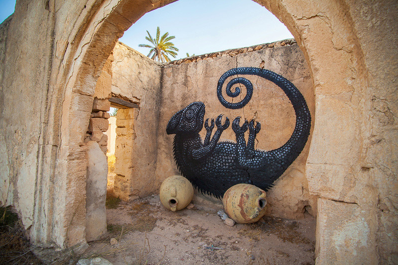 Street Art à Djerba Roa_be10