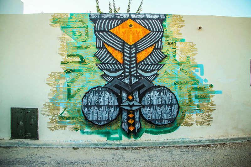 Street Art à Djerba Wisetw11