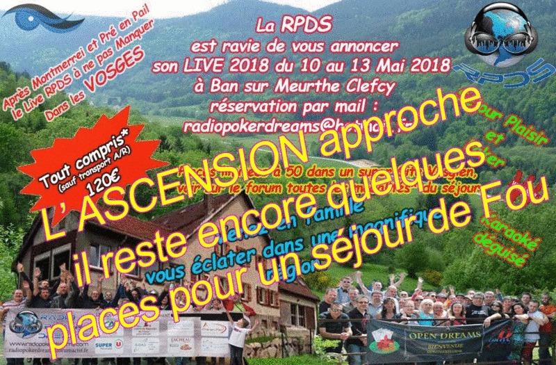 Week-End live du 10 au 13 Mai 2018 avec RPDS Live-r10