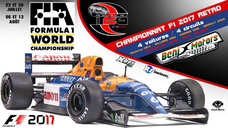 Inscription Championnat F1 Rétro By T2G Affich15