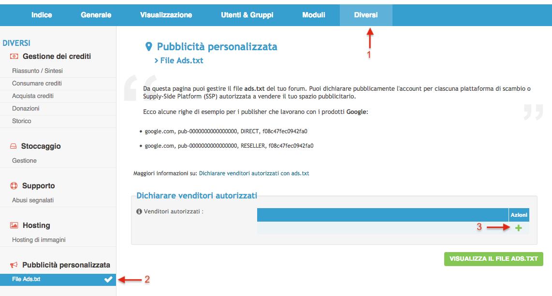 Dichiara venditori autorizzati sui tuoi forum con il file ads.txt Scherm15