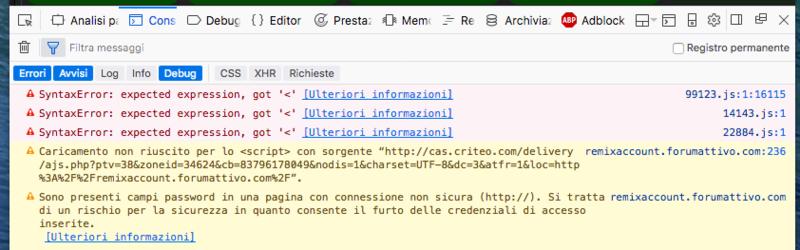 Javascript non funzionano Scherm25