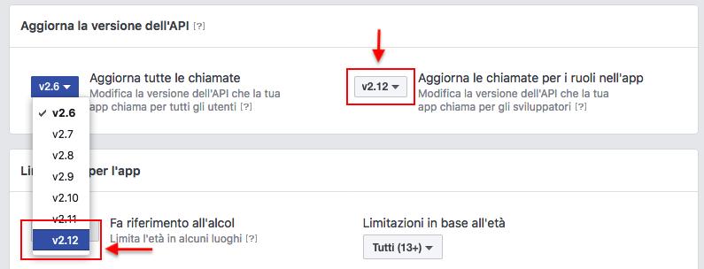 Aggiorna l'API Facebook dei tuoi forum alla versione v2.12 Scherm39