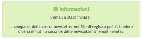 Scrivere ed inviare una newsletter Scherm48