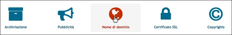 Personalizza il tuo nome di dominio Scherm71