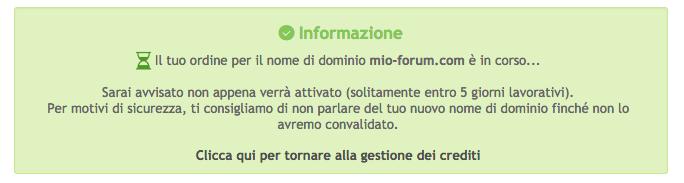 Personalizza il tuo nome di dominio Scherm74